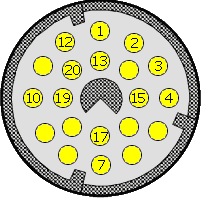 20 pin car OBD2 special connector layout