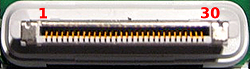 30 pin connector used on the dock station for iPod, iPad and iPhone
