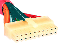 ATX ver. 1.x 20 pinconnector at the power supply cable