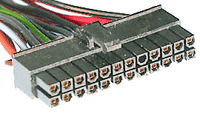24 pin connector at the power supply cable