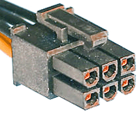 6 pin PCIe power connector at the cable
