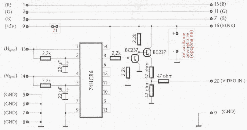 image_vga2scart_converter vga to scart converter cable scheme � allpinouts scart to rca wiring diagram at cos-gaming.co